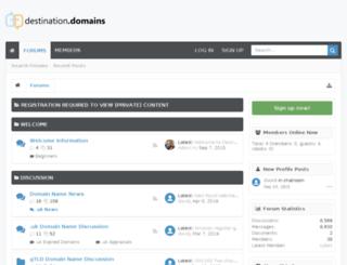 destination.domains screenshot