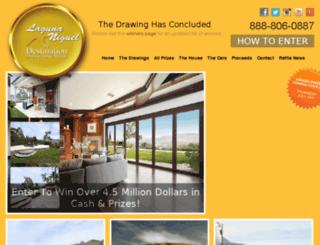 destinationdreamraffle.com screenshot