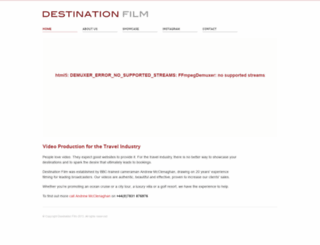 destinationfilm.co.uk screenshot