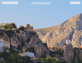 destinoguadalest.com screenshot