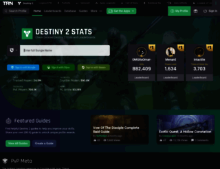 destinytracker.com screenshot