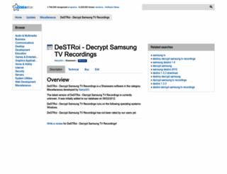 destroi-decrypt-samsung-tv-recordings.updatestar.com screenshot