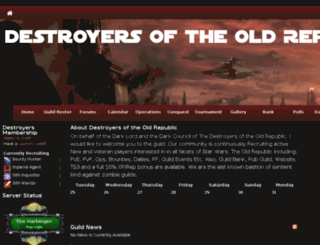 destroyersoftheoldrepublic.guildlaunch.com screenshot