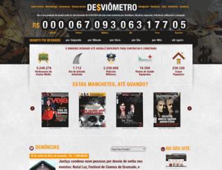 desviometro.com.br screenshot