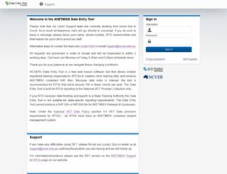 det.ncver.edu.au screenshot