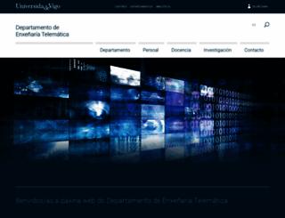 det.uvigo.es screenshot