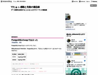 deta.hateblo.jp screenshot