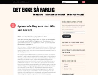 detekkesaafarlig.wordpress.com screenshot