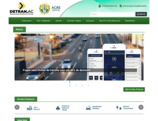 detran.ac.gov.br screenshot
