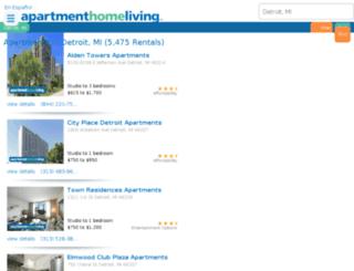 detroit.apartmenthomeliving.com screenshot