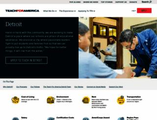 detroit.teachforamerica.org screenshot