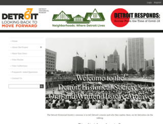 detroit1967.detroithistorical.org screenshot