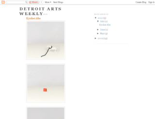 detroitartsweekly.blogspot.com screenshot