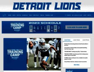 detroitlions.com screenshot