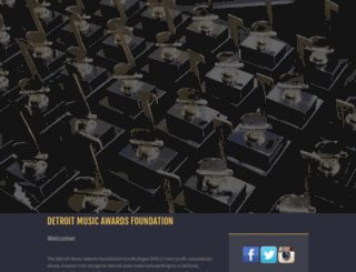 detroitmusicawards.com screenshot
