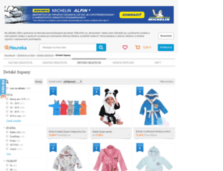 detske-zupany.heureka.sk screenshot