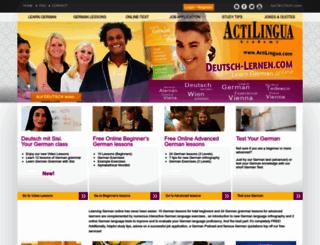 deutsch-lernen.com screenshot
