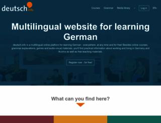 deutsch.info screenshot