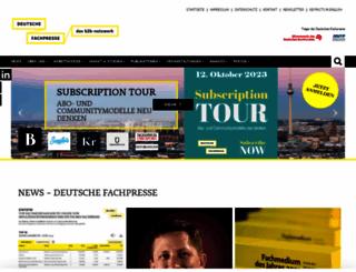deutsche-fachpresse.de screenshot