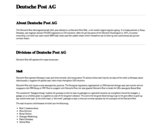 deutsche-post.ag screenshot