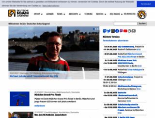 deutsche-schachjugend.de screenshot