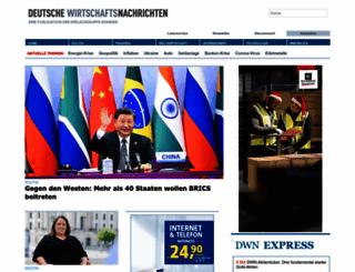 deutsche-wirtschafts-nachrichten.de screenshot