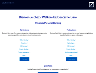 deutschebank.be screenshot