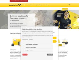 deutschepost.com screenshot