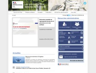 deux-sevres.pref.gouv.fr screenshot