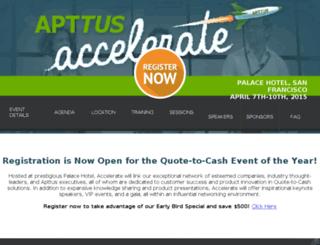 dev-apttus-accelerate-2015.pantheon.io screenshot