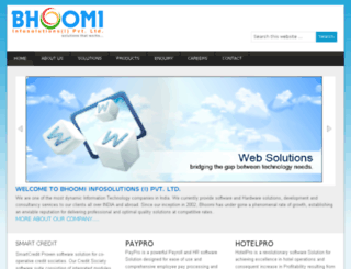 dev.bhoomiinfosolutions.com screenshot