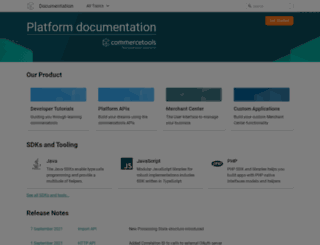dev.commercetools.com screenshot