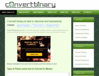 dev.convertbinary.com screenshot