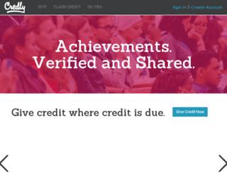 dev.credly.com screenshot
