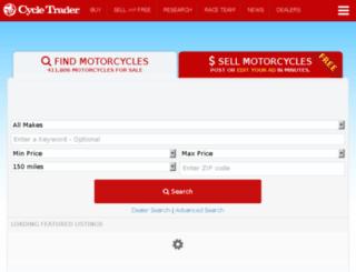 dev.cycletrader.com screenshot