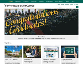 dev.farmingdale.edu screenshot
