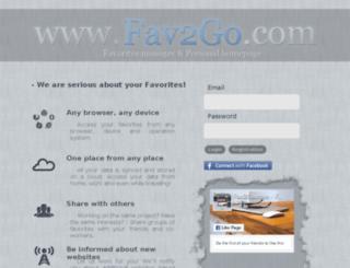 dev.fav2go.com screenshot