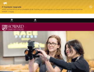 dev.howardcc.edu screenshot