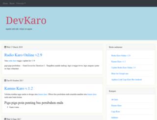 dev.karo.or.id screenshot