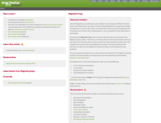 dev.magnolia-cms.com screenshot