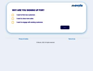 dev.movylo.com screenshot
