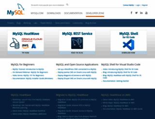 dev.mysql.com screenshot