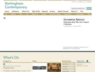 dev.nottinghamcontemporary.org screenshot