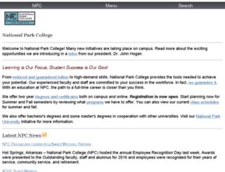 dev.np.edu screenshot