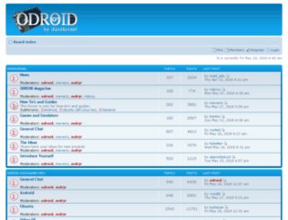 dev.odroid.com screenshot