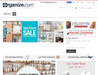 dev.organize.com screenshot