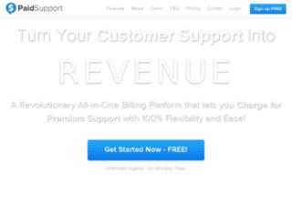 dev.paidsupport.com screenshot