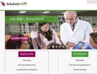 dev.scholarlyhires.com screenshot