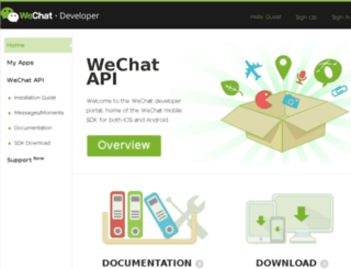 dev.wechat.com screenshot