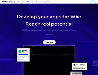 dev.wix.com screenshot